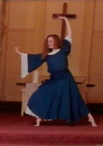 Marcia dancing at the Saint Paul School of Theology